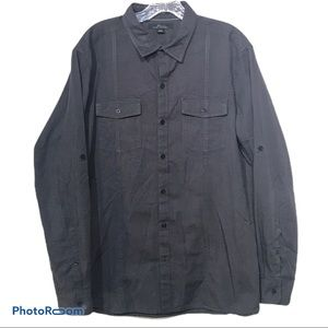 Black Marc Anthony button up with Swiss tabs